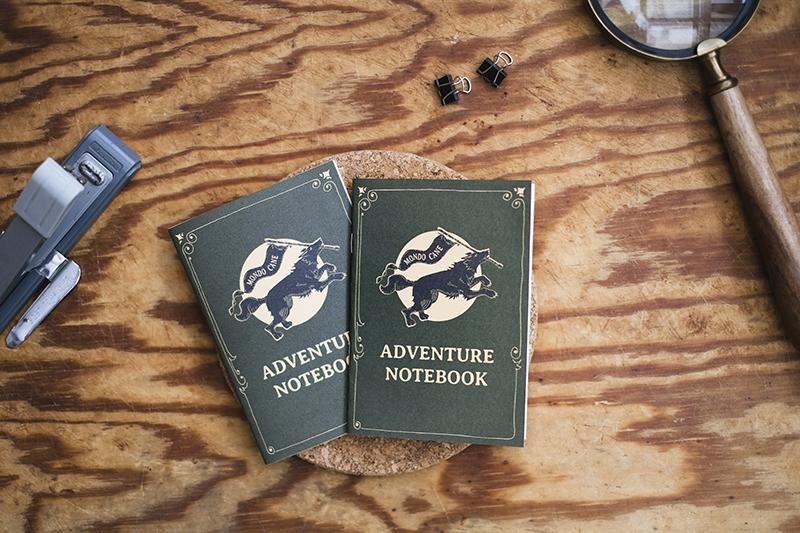 DIY dog adventure notebook, printable, dog illustration, dog blog, adventure dogs, www.DOGvision.eu