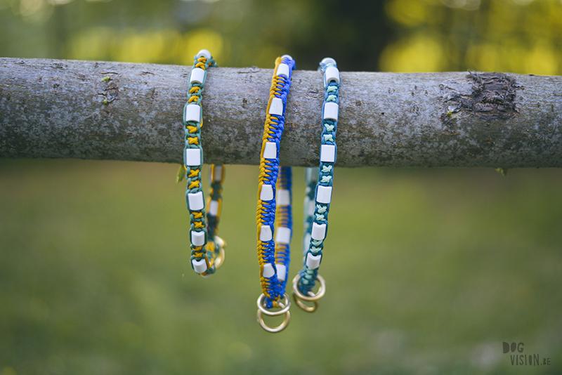 Anti-teken halsband honden, handgemaakt, EM keramiek, www.dogvision.be