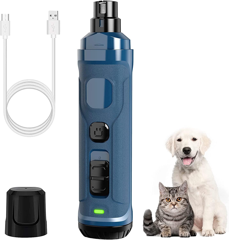 dog nail grinder review, dog nail care, anxious dog nail clipping, www.dogvision.eu
