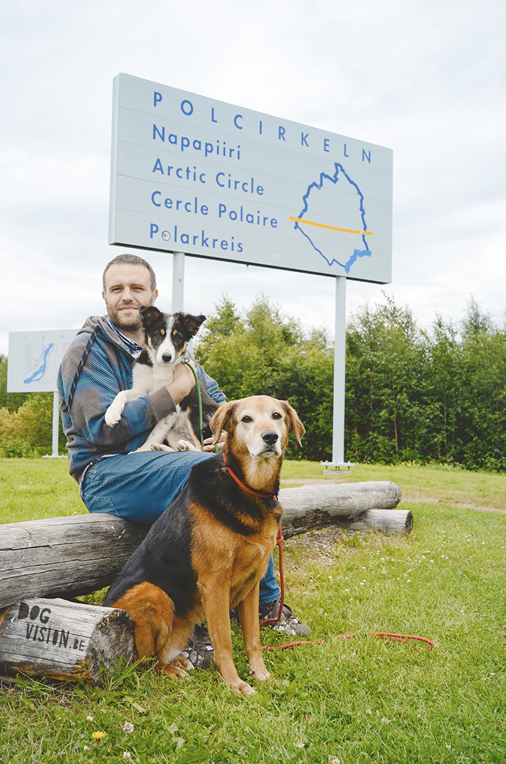 Road trip with dogs | puppy Mogwai on her way to North Cape (Norway) | dog photography | www.DOGvision.be