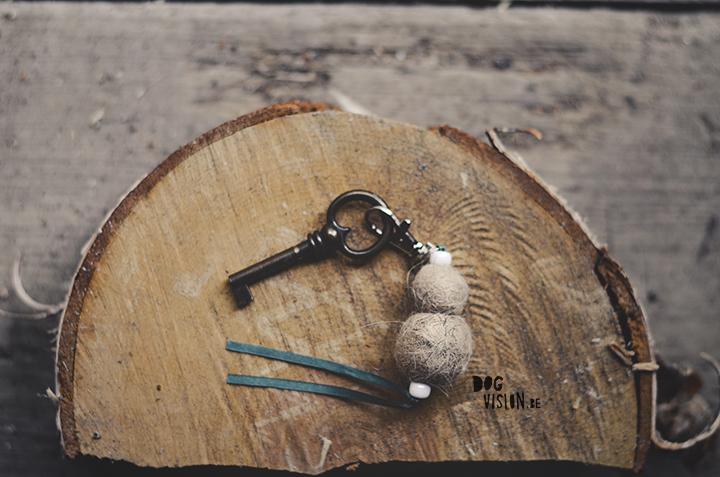 Felting dog hair, keyring | www.DOGvision.eu
