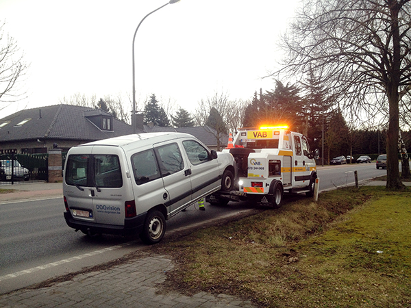 dogvision-mobiel in panne