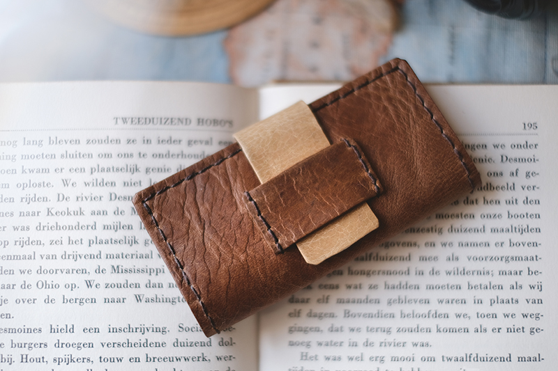 Leather memory card case by www.Fenne.be