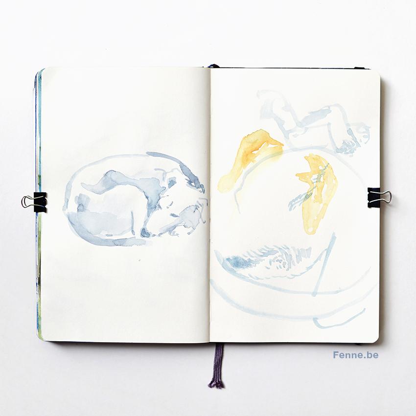 Moleskine sketchbook, sketch of dog, www.DOGvision.eu