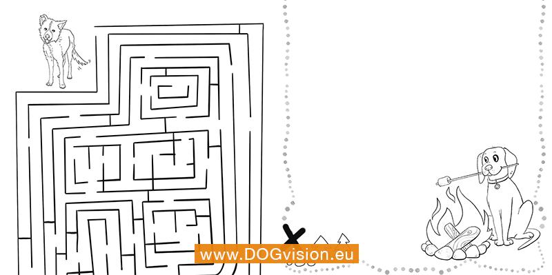 DOGvision free printable dog drawings. coloring pages dogs, www.DOGvision.eu