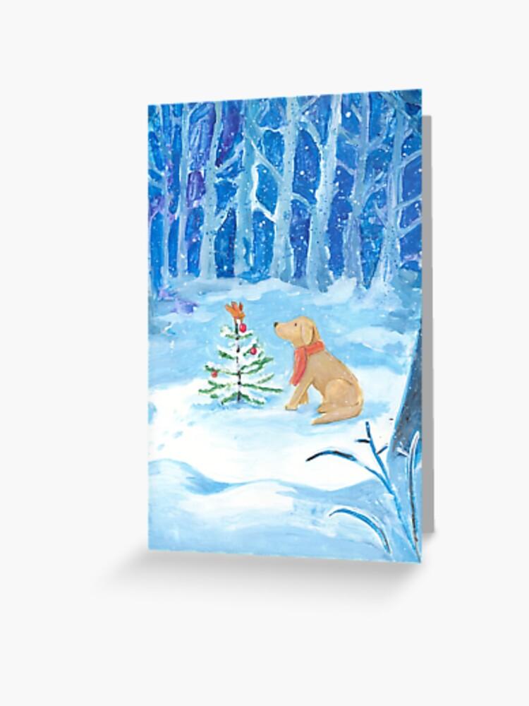 DOGvision dog artwork dog illustration, dog drawing, dog painting, dog design, honden cadeau, hondenbaasje, honden tekening, honden design, kerstkaartje hond, www.DOGvision.be // prints Redbubble.com/people/dogvision